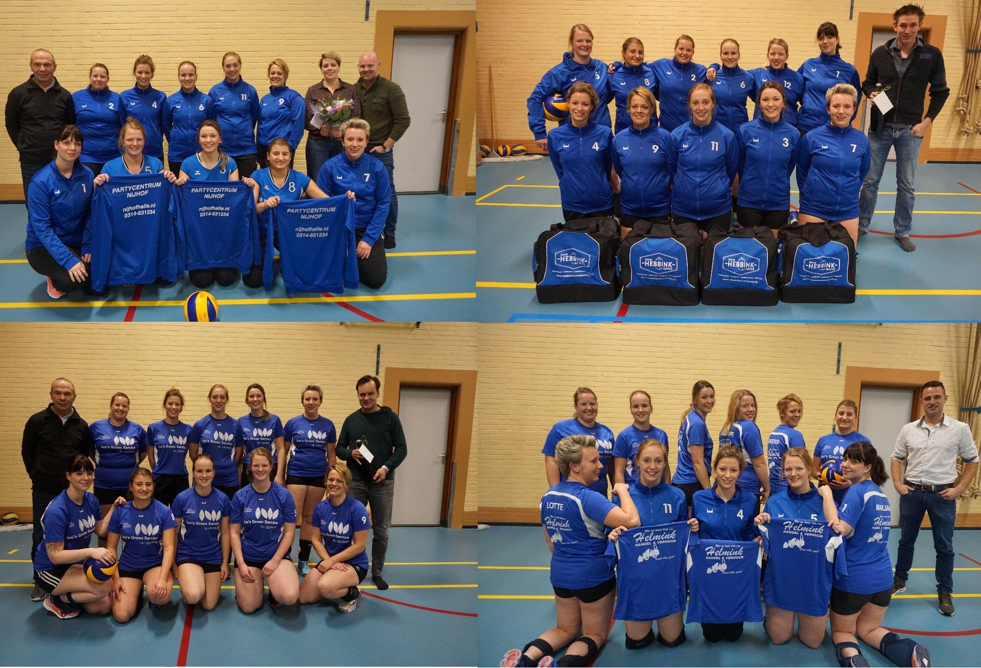 Volleybal Dames 2, (bijna) helemaal in het nieuw!