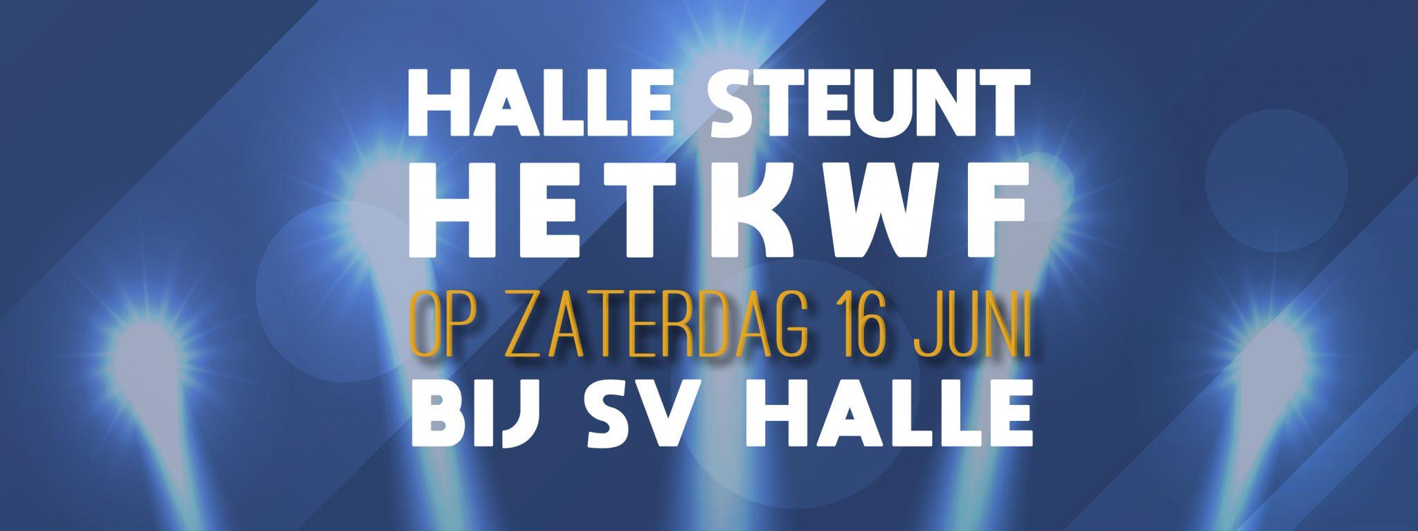 SV Halle steunt het KWF!